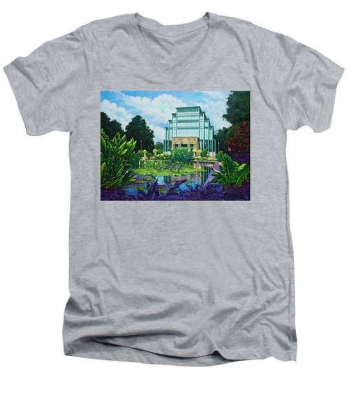 Forest Park Jewel Box Men's V-Neck T-Shirt by Michael Frank