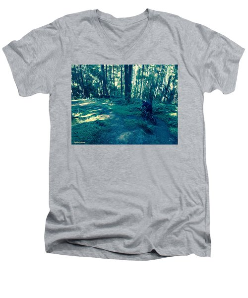 Forest Ride Men's V-Neck T-Shirt