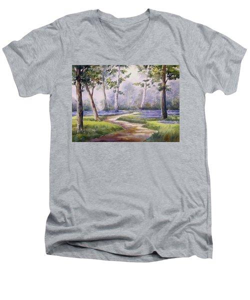 Forest  Men's V-Neck T-Shirt by Samiran Sarkar