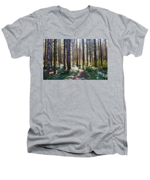 Forest Stroll Men's V-Neck T-Shirt