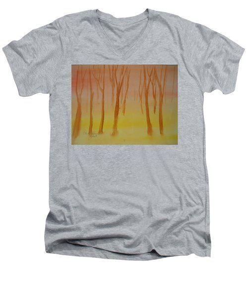 Forest Study Men's V-Neck T-Shirt