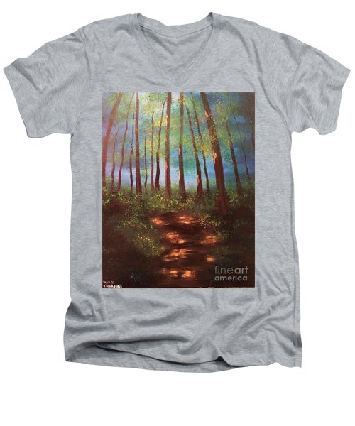 Forests Glow Men's V-Neck T-Shirt