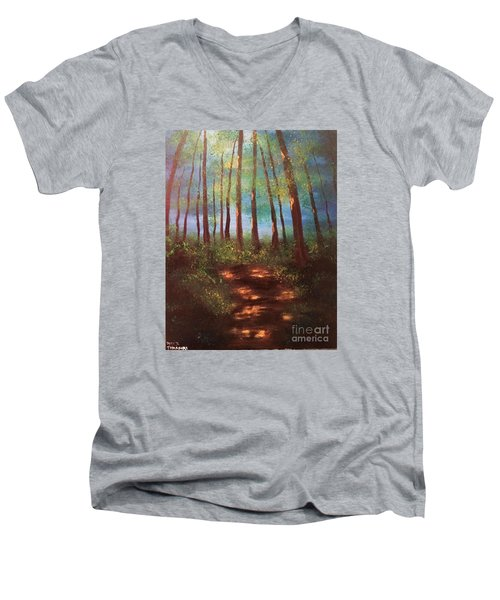 Forests Glow Men's V-Neck T-Shirt