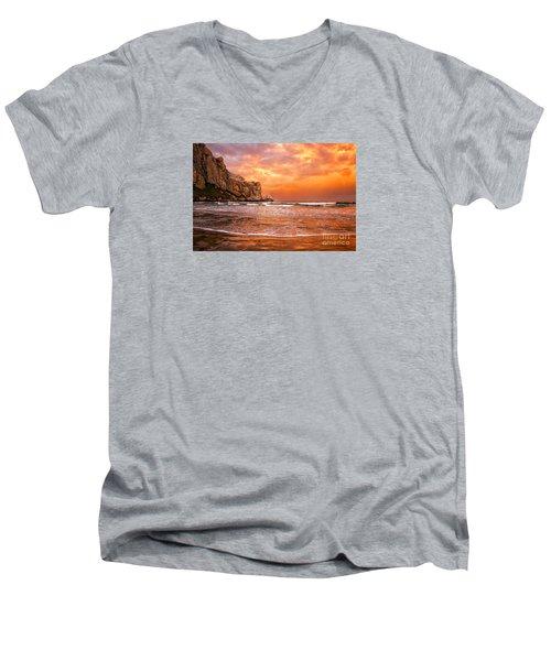 Forever Men's V-Neck T-Shirt by Alice Cahill