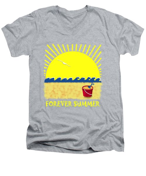 Forever Summer 8 Men's V-Neck T-Shirt