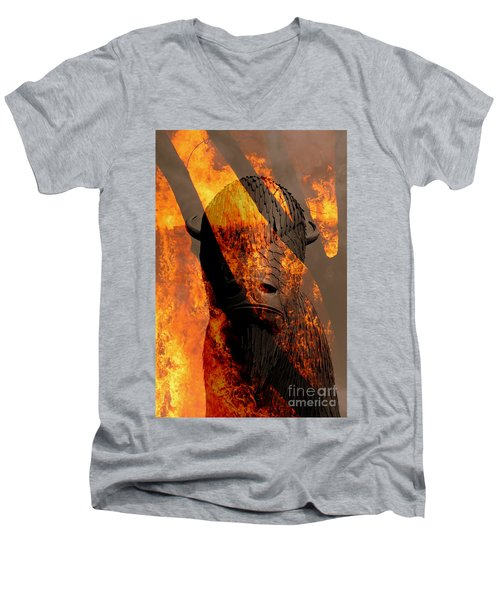 Forged In Fire Men's V-Neck T-Shirt
