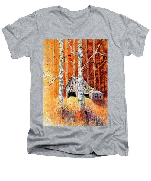 Forgotten In The Aspens Men's V-Neck T-Shirt