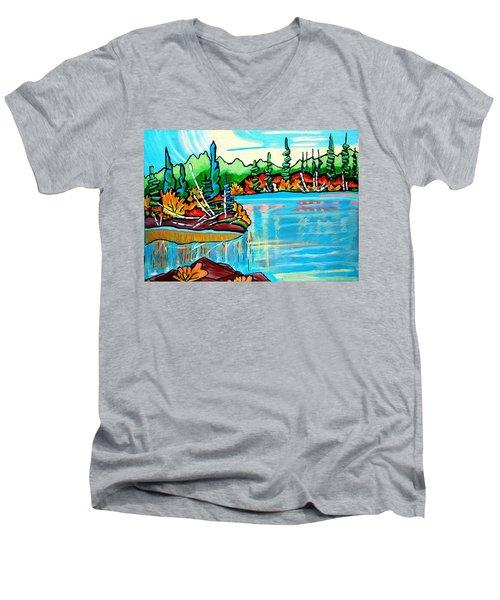 Forgotten Lake Men's V-Neck T-Shirt