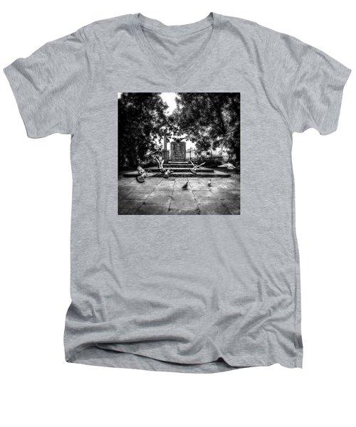 Forgotten Monument Men's V-Neck T-Shirt by Jaroslaw Grudzinski