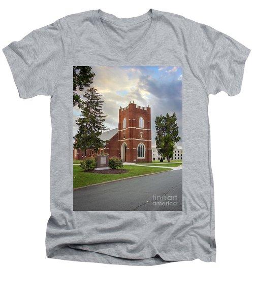 Fork Union Military Academy Wicker Chapel Sized For Blanket Men's V-Neck T-Shirt