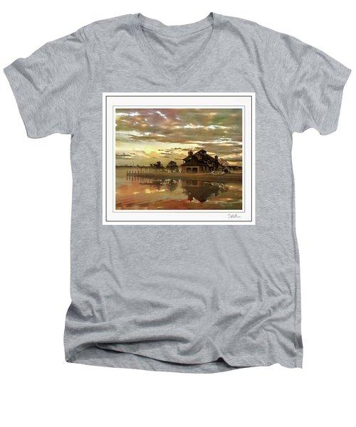 Forked River Six 3 Men's V-Neck T-Shirt