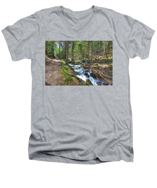 Forked Stream Men's V-Neck T-Shirt