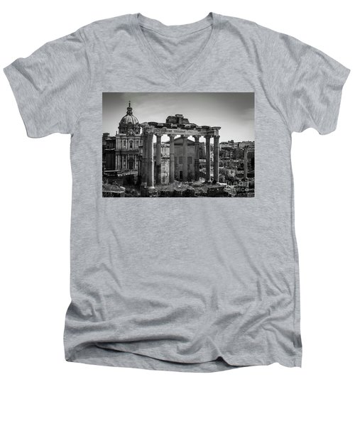 Foro Romano, Rome Italy Men's V-Neck T-Shirt