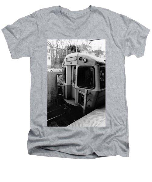 Forrest Hills Stop  Men's V-Neck T-Shirt