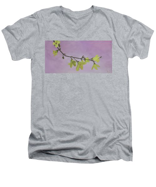 Forsythia Men's V-Neck T-Shirt