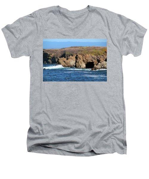Fort Bragg Mendocino County Men's V-Neck T-Shirt