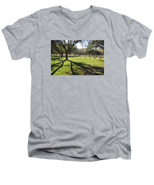 Fort Huachuca Post Cemetery Men's V-Neck T-Shirt by Gina Savage