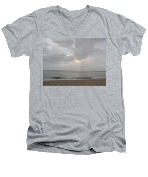 Fort Lauderdale Rainbow Men's V-Neck T-Shirt by Patricia Piffath