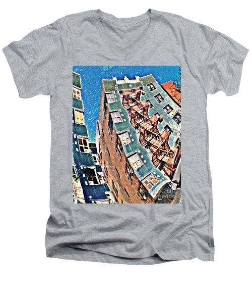 Fort Washington Avenue Building Men's V-Neck T-Shirt