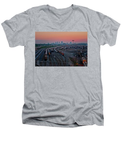 Fort Worth Trainyards Men's V-Neck T-Shirt