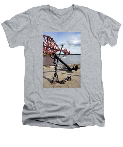 Men's V-Neck T-Shirt featuring the photograph Forth Bridge by Jeremy Lavender Photography