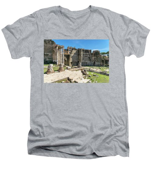 Men's V-Neck T-Shirt featuring the photograph Forum Of Augustus by Scott Carruthers