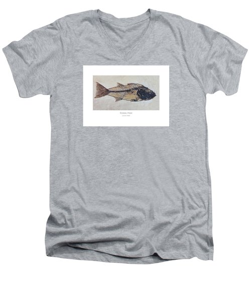 Fossil Fish Men's V-Neck T-Shirt