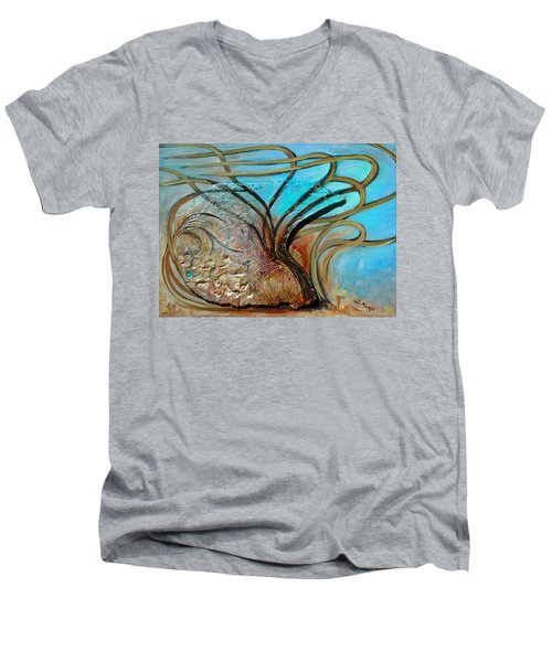 Fossil In The Deep Men's V-Neck T-Shirt