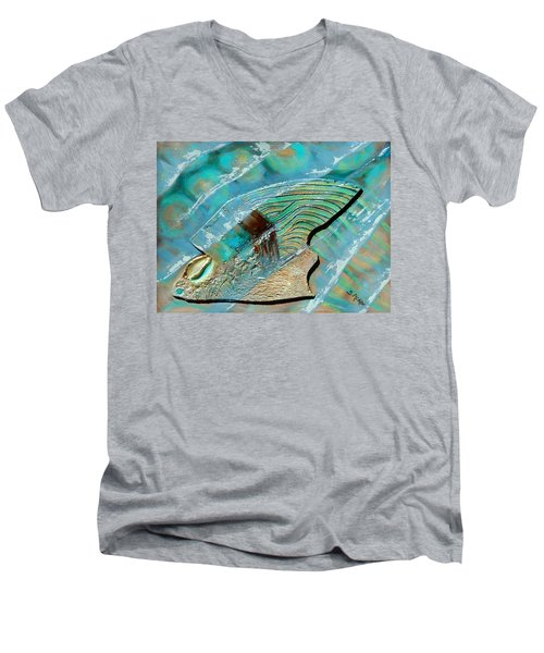 Fossil On The Shore Men's V-Neck T-Shirt
