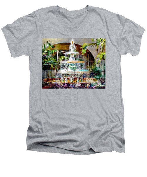 Fountain Of Water Men's V-Neck T-Shirt