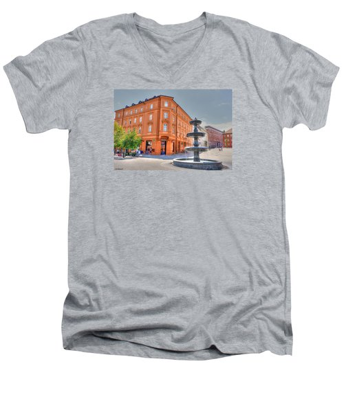 Fountain Men's V-Neck T-Shirt by Uri Baruch