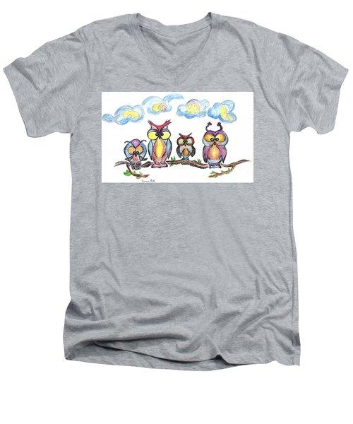 Four Friends  Men's V-Neck T-Shirt
