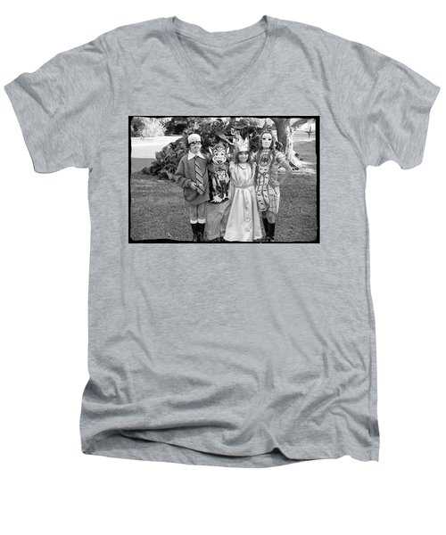 Four Girls In Halloween Costumes, 1971, Part One Men's V-Neck T-Shirt