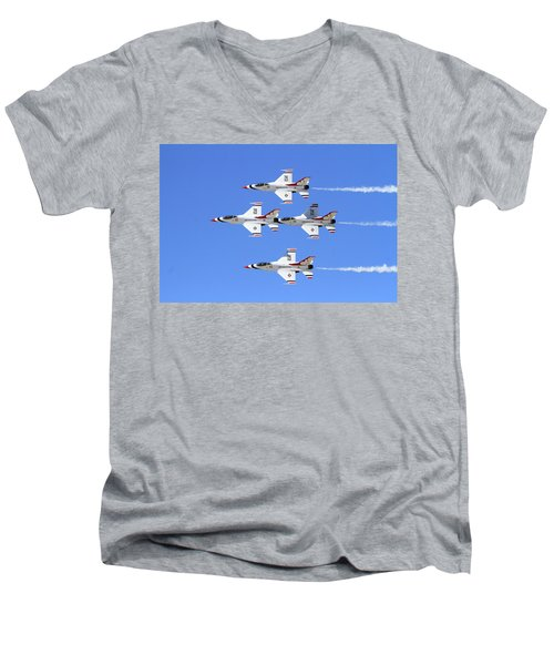Four Mation Men's V-Neck T-Shirt by Shoal Hollingsworth