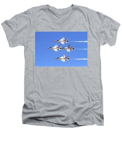 Four Mation Men's V-Neck T-Shirt