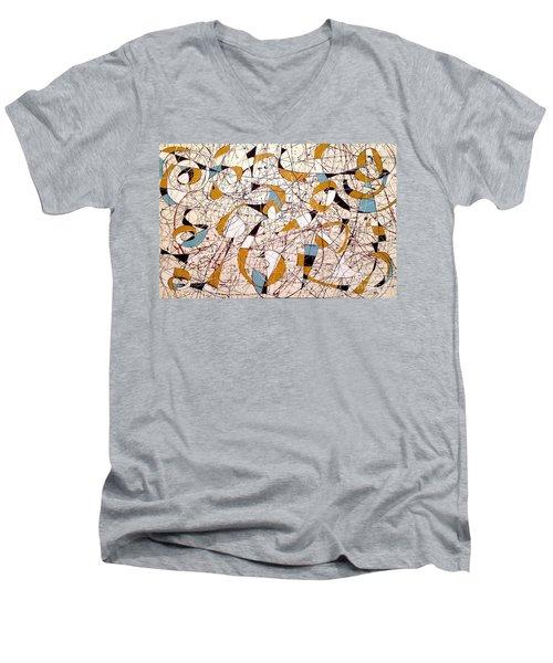#4 Men's V-Neck T-Shirt