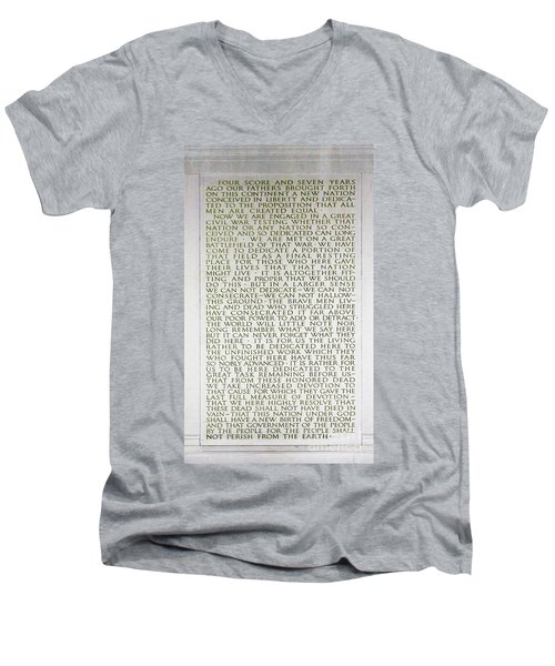 Four Score And Seven Years...... Men's V-Neck T-Shirt by Allen Beatty