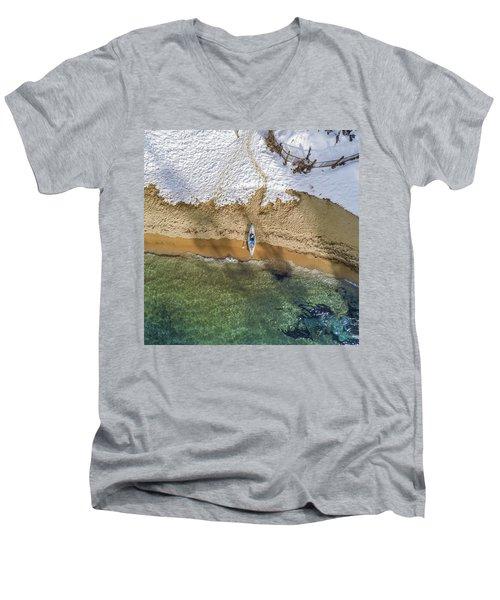 Four Seasons Men's V-Neck T-Shirt by Alpha Wanderlust