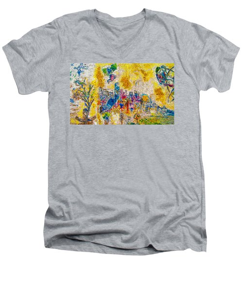 Four Seasons Chagall Men's V-Neck T-Shirt