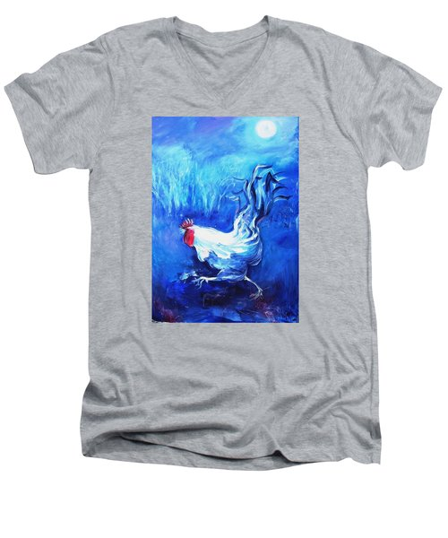 Fox Alert   Men's V-Neck T-Shirt by Trudi Doyle