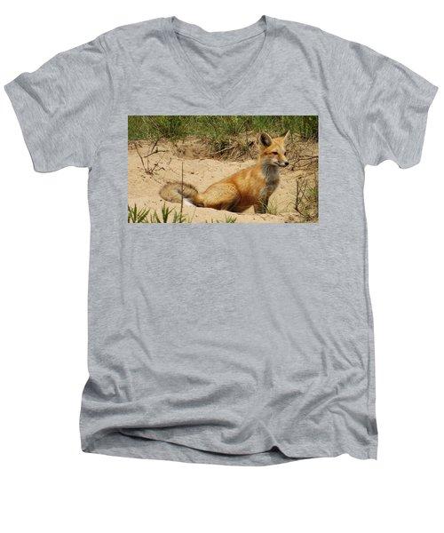 Fox In The Woods 2 Men's V-Neck T-Shirt