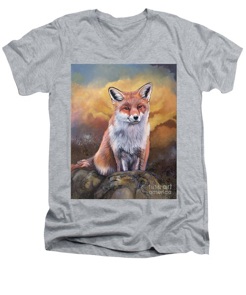 Fox Knows Men's V-Neck T-Shirt