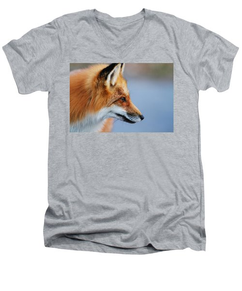Fox Profile Men's V-Neck T-Shirt