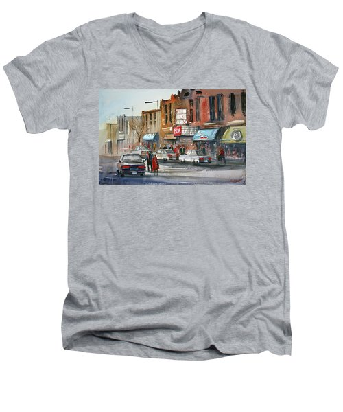 Fox Theater - Steven's Point Men's V-Neck T-Shirt