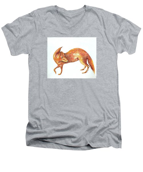 Fox Trot Men's V-Neck T-Shirt by Tamyra Crossley