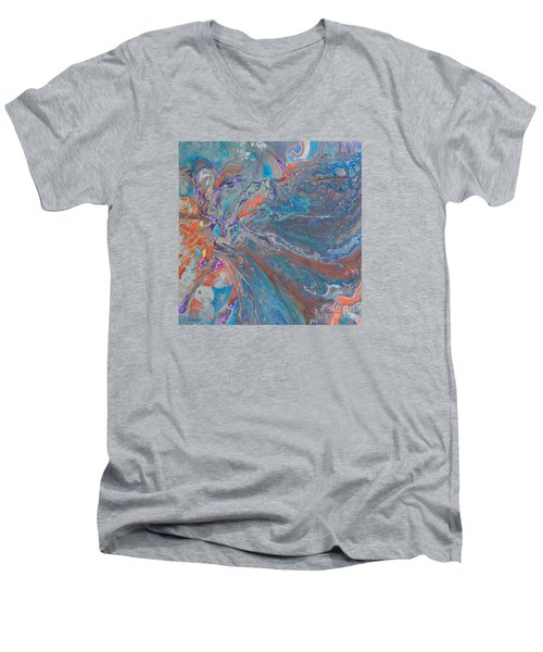 Fp Turquoise Men's V-Neck T-Shirt