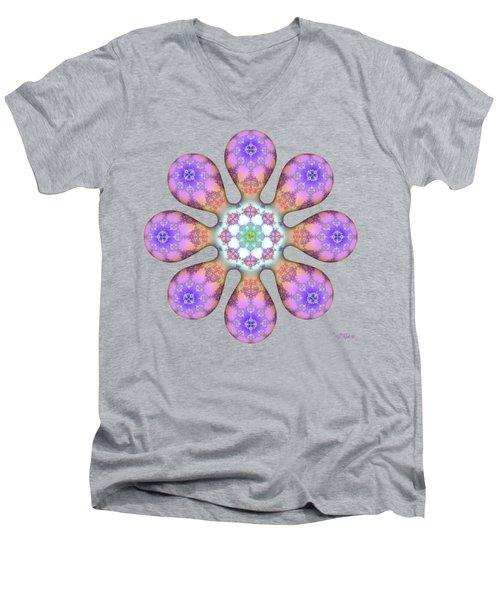 Fractal Blossom 2 Men's V-Neck T-Shirt