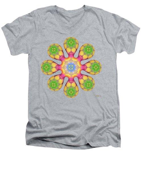 Fractal Blossom 3 Men's V-Neck T-Shirt
