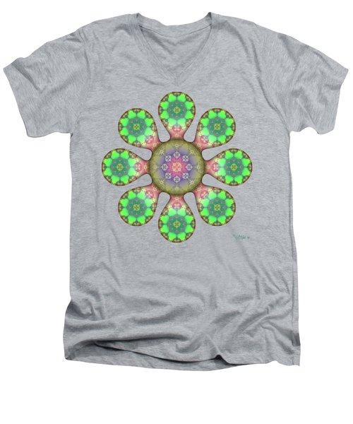 Fractal Blossom 5 Men's V-Neck T-Shirt
