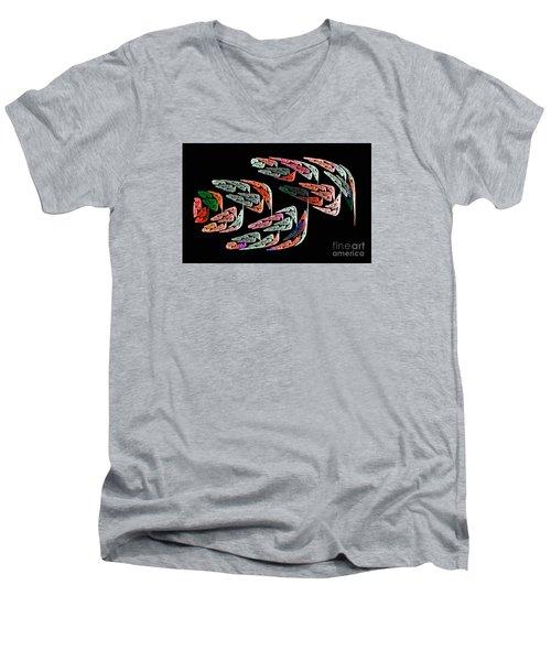 Fractal Crochet On The Computer Men's V-Neck T-Shirt